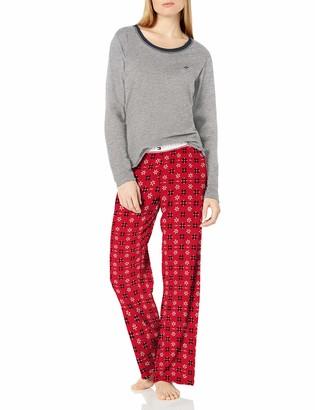 Tommy Hilfiger Women's Top Pant and Short 3 Piece Cotton Pajama Lounge Set