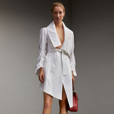 Burberry Stretch Cotton Sculptural Wrap Dress , Size: 04, White
