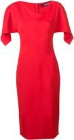 Sies Marjan drape sleeve fitted dress