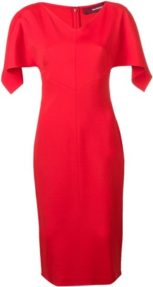 Sies Marjan Drape Sleeve Fitted Dress