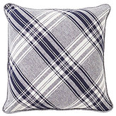 Daniel Cremieux Winslow Diagonal Plaid Linen & Chambray Square Pillow