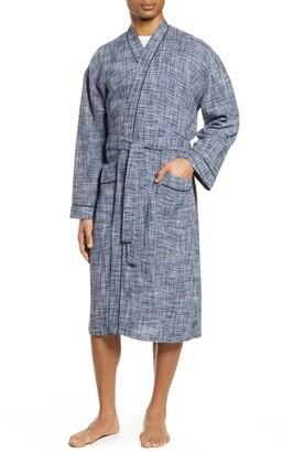 Majestic International Ombre Heathered Waffle Knit Robe