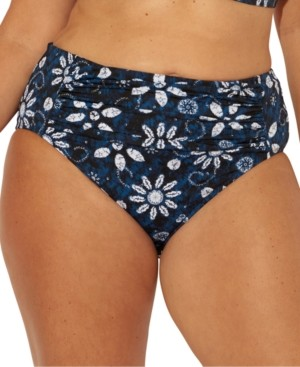 Bleu by Rod Beattie Plus Size Take a Dip Printed Tummy-Control Bikini Bottoms Women's Swimsuit