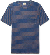 Faherty Striped Mélange Cotton-Jersey T-Shirt
