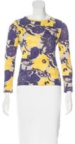 Dries Van Noten Long Sleeve Floral Print Top