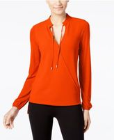 MICHAEL Michael Kors Faux-Wrap Top