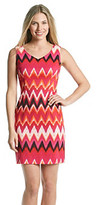 Amy Byer Sleeveless Printed Sheath Dress