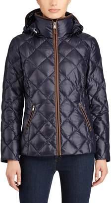 Lauren Ralph Lauren Hooded Padded Jacket with High Collar
