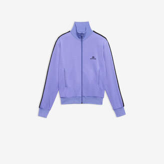 Balenciaga BB Zip-Up Jacket in light purple and black terry cotton jersey