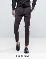 Heart & Dagger Super Skinny Suit Trouser In Check