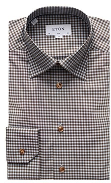 Eton Gingham Slim Fit Dress Shirt