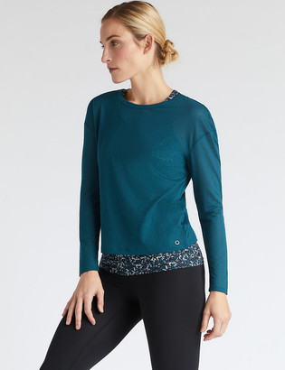 Marks and Spencer Scoop Neck Double Layer Long Sleeve Top