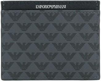 Emporio Armani Monogram Logo Print Cardholder
