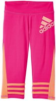 adidas Be Free Capri Tight (Toddler/Kid) - Medium Pink - 5