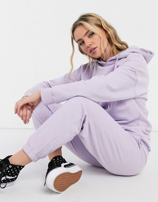 New Look co-ord oversized cuffed jogger in lilac
