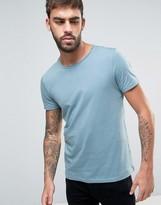 Boss Orange By Hugo Boss Raw Edge T-shirt Regular Fit In Light Blue