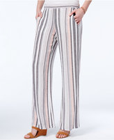 Amy Byer Juniors' Striped Wide-Leg Pants