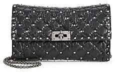 Valentino Women's Garavani Rockstud Spike Leather Crossbody Clutch