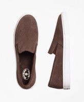 Brooks Brothers Suede Slip-On Sneakers