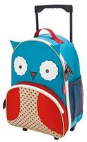 Skip Hop Zoo Little Kids & Toddler Rolling Travel Luggage, Owl