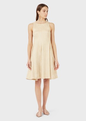 Emporio Armani Flared Dress With A Jacquard Woven Motif
