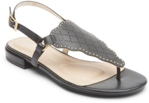 Rockport Women's Total Motion Zosia Wave Toe-Thong Sandals Women's Shoes