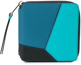 Loewe colour-block zip around wallet