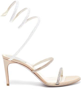 Rene Caovilla Cleo' strass coil anklet satin sandals
