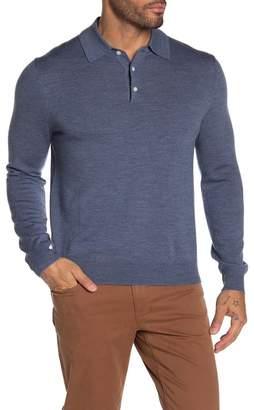 Brooks Brothers Merino Wool Long Sleeve Polo