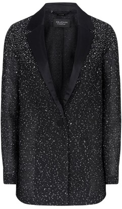 St. John Lightweight Metallic Knit Jacket