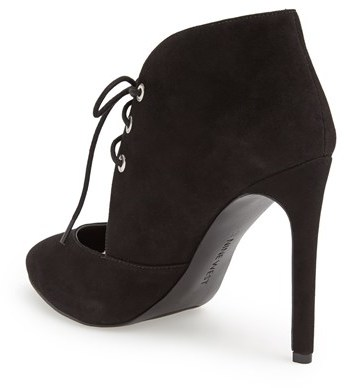 Nine West 'Nicolette' Cutout Suede Lace-Up Bootie (Women)