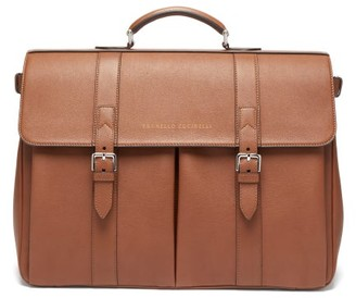 Brunello Cucinelli Leather Holdall - Mens - Brown