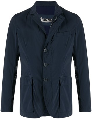 Herno Waterproof Single-Breasted Jacket