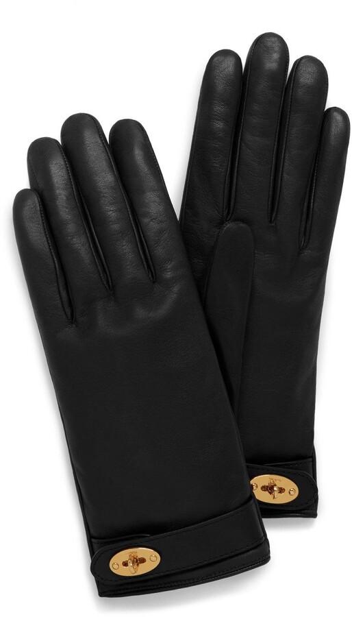 Mulberry Darley Gloves Black Smooth Nappa