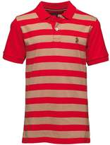 Luke 1977 Little Luke Boys 9 Dream Printed Polo Marina Red/Lux Sand