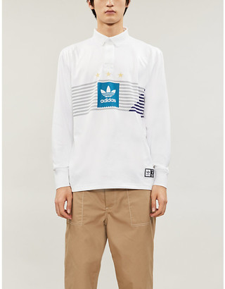 adidas Elevated logo-print recycled-polyester rugby shirt