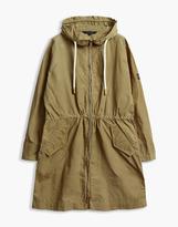 Belstaff Rivingten Hooded Parka Jacket Golden Khaki