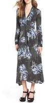 Astr Women's 'Edith' Tie Neck Maxi Dress