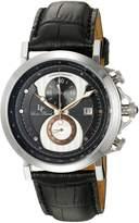 Lucien Piccard Men's 40015-01-RA Pegasus Analog Display Quartz Black Watch