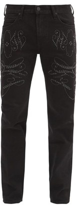 Stefan Cooke - X Lee Studded Slim-leg Jeans - Black