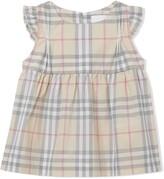 Burberry ruffle check bloomer dress