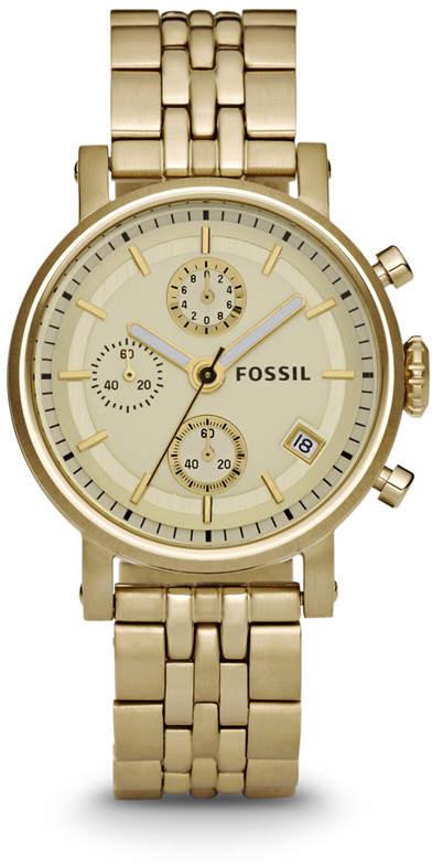 Fossil Original Boyfriend Chronograph Gold-Tone Stainless Steel Watch