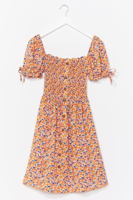 Nasty Gal Womens Bust Some Moves Floral Midi Dress - Orange