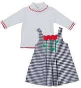 Florence Eiseman Check Pleated Tulip Jumper w/ Turtleneck, Size 2-6