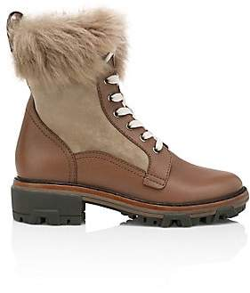 Rag & Bone Women's Shiloh Lace-Up Lamb Fur-Lined Leather Combat Boots