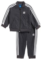 adidas Infant Boy's Superstar Twill Track Jacket & Pants Set