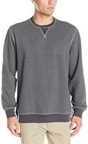Izod Men's Saltwater Stripe Crew Fleece