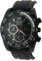 Crosshatch Men's Quartz Watch with Black Dial Analogue Display and Black Silicone Strap CRS14/B