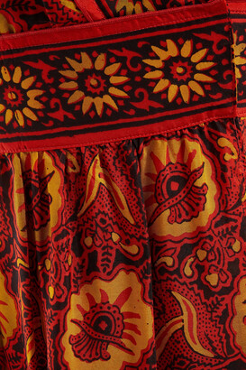 BA&SH Kemi Open-back Printed Silk-voile Maxi Dress