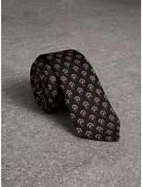 Burberry Slim Cut Paisley Silk Tie, Grey